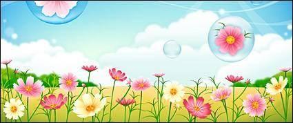 free vector Flower garden