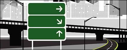 free vector Road signpost