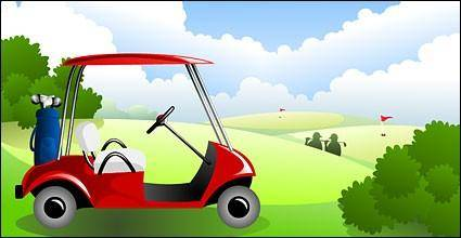 free vector Golf car