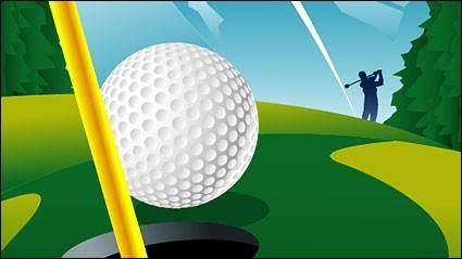 free vector Playing golf