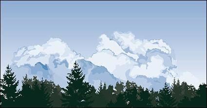 Cloud trees scene