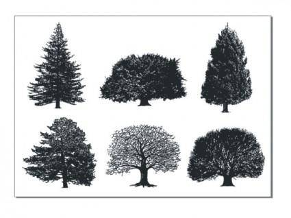 A monochrome tree vector