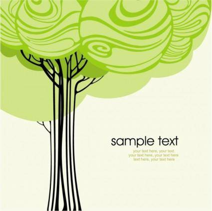 free vector Green tree illustration series 02 vector
