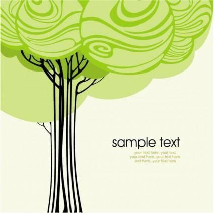 Green tree illustration series 02 vector