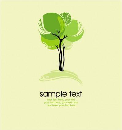 free vector Green tree illustration series 03 vector
