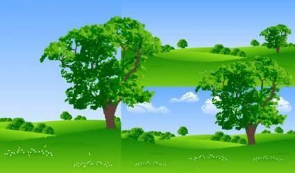 Vector tree lawn