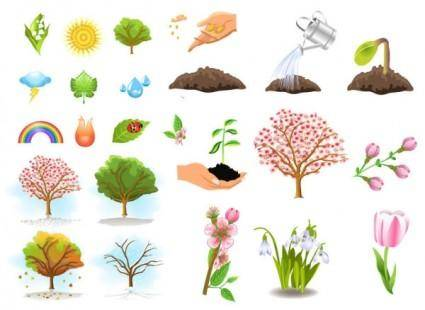 Plant trees vector
