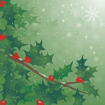 free vector Holly tree vector
