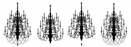 free vector Vector chandeliers