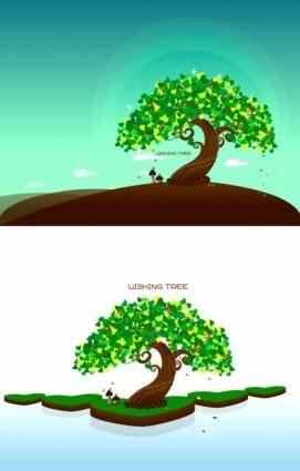 Wishing tree vector