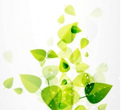 free vector Abstract Green Leaves Vector Background