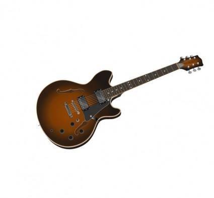 Guitar Photorealistic Vector Image