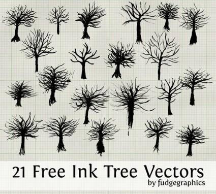 free vector Ink Tree Vectors