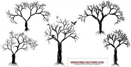 free vector Tree set
