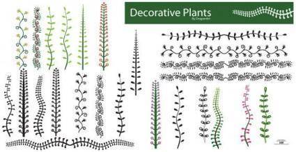 Vector decorative plants