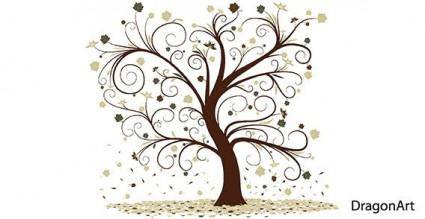 free vector Vector curly tree