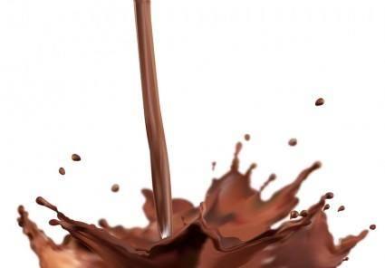 free vector Splash Chocolate