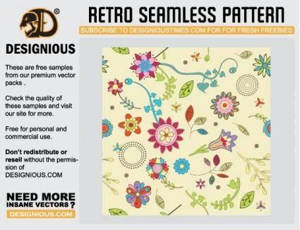 free vector Seamless Retro Vectors