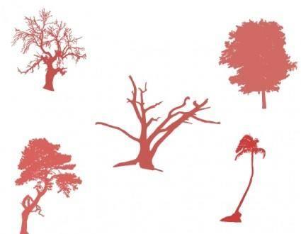 free vector Vector tree set