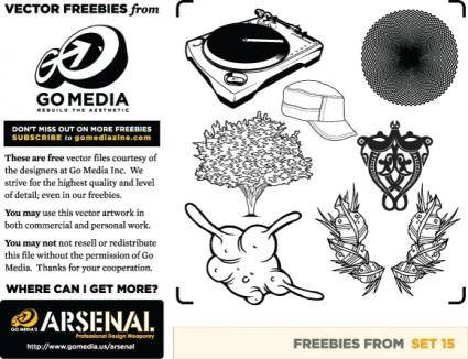 free vector Mic vector pack