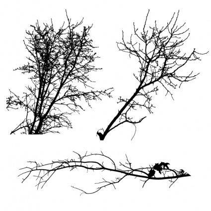 free vector Tree Silhouettes
