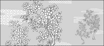 free vector Line drawing of flowers -25