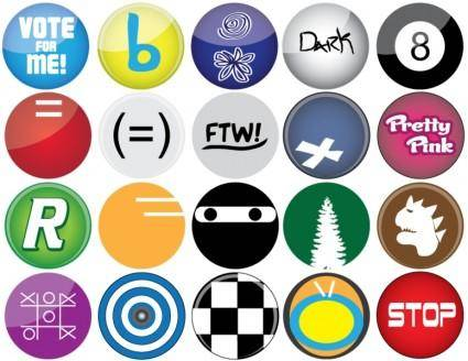 free vector Button Vectors