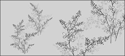 Line drawing of flowers -17