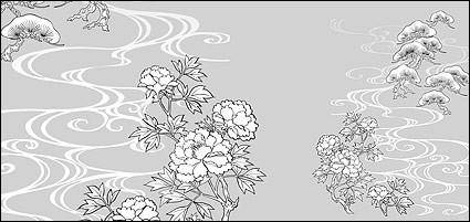 Line drawing of flowers -18