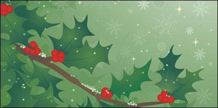 free vector Holly tree vector material