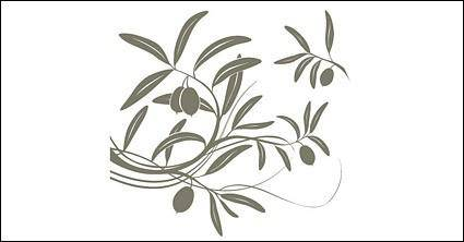 free vector Fruit tree branches silhouettes vector material