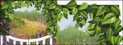 free vector Vector material vine leaves
