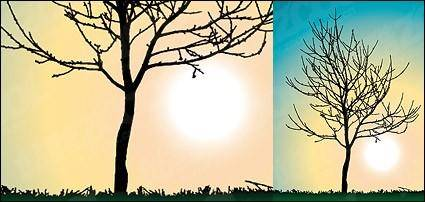 free vector Trees no leaves vector material