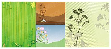 free vector Bamboo plants