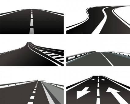 Realistic highway 01 vector