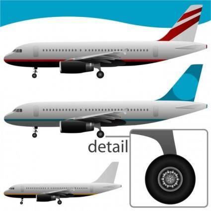 Realistic aircraft 02 vector