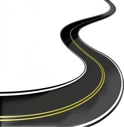 Realistic highway 02 vector