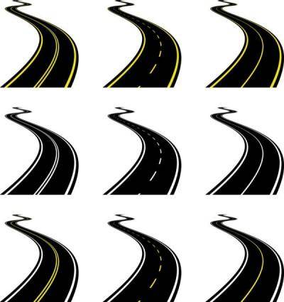 free vector Realistic highway 03 vector