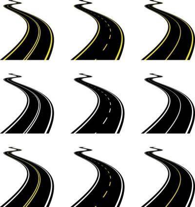 Realistic highway 03 vector