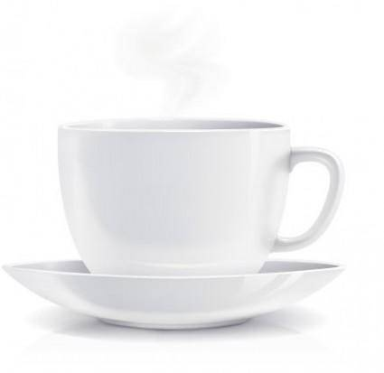 free vector White coffee cup realistic vector