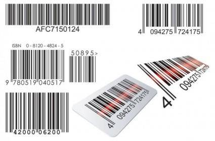 Realistic barcode 02 vector