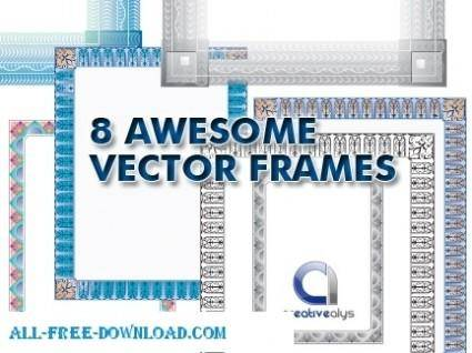 free vector 8 Awesome Frames in Vector