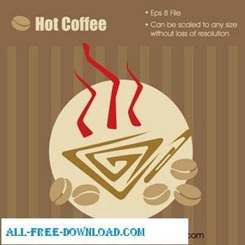 free vector Hot Coffee Graphic