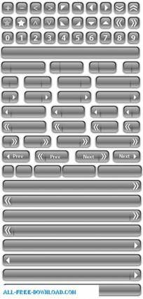 free vector Assorted glass buttons