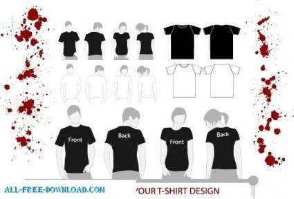 free vector T Shirt Models