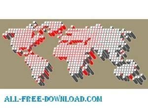 free vector Vector tech map