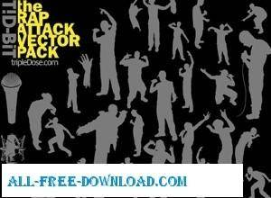 free vector The Rap Attack Vector Pack