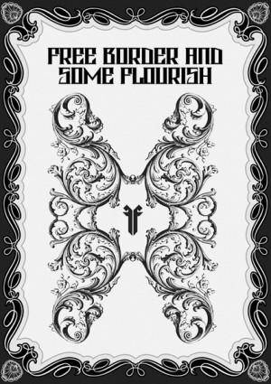 free vector Free Borders and Vector Flourishes