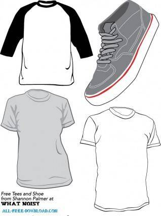 free vector Free Vector T Shirts and Sneaker