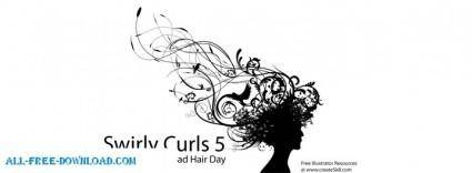 free vector Swirly Curls